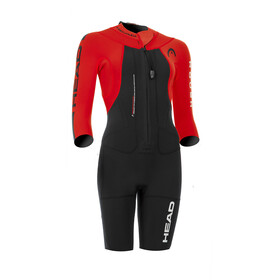Head Swimrun Rough Shorty Suit Women Black-Red